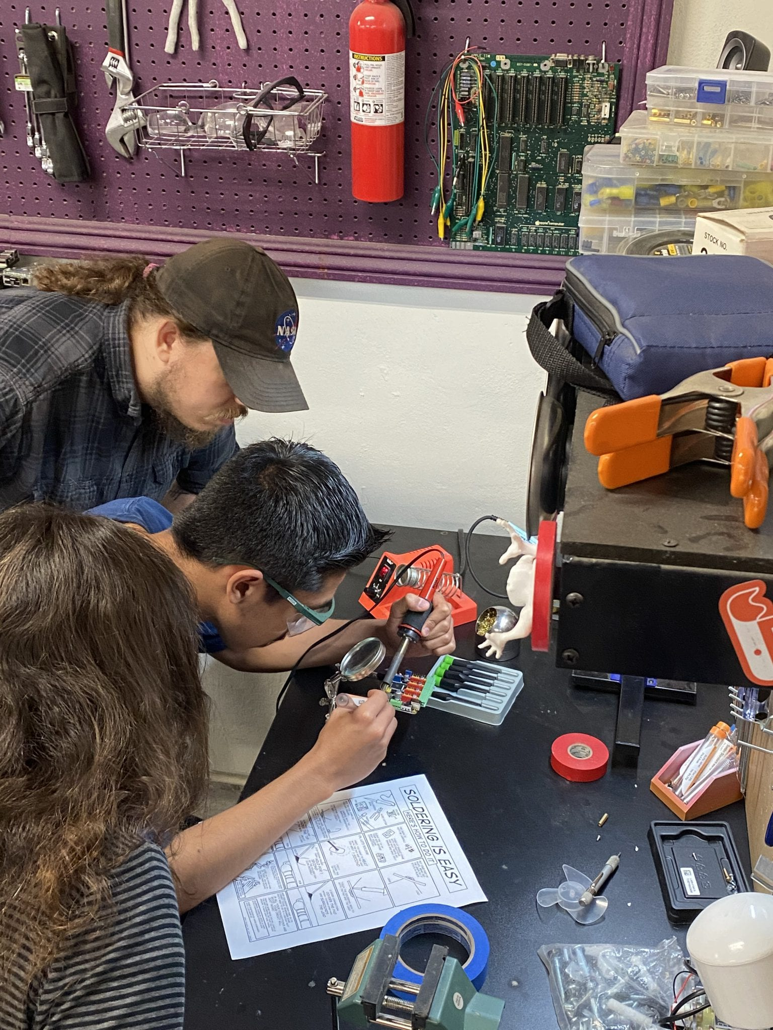 Soldering at Root Access